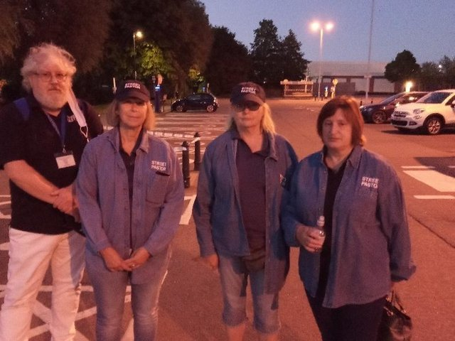 The Harborough Street Pastors at the scene of tonight's incident. Keiran Silcott's mum Claire is pictured on the right.