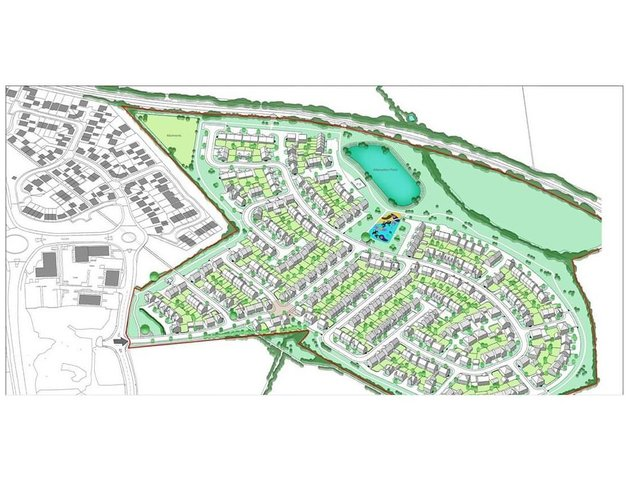 The scheme to build 350 properties on a 36-acre chunk of land off Eady Drive was resoundingly rubberstamped by Harborough council's planning committee last night (Tuesday).
