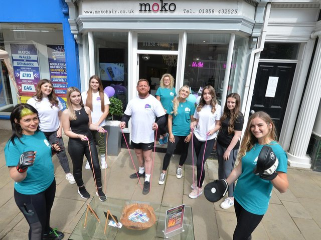 Staff at Moko Salon & Spa alongside RnR Recovery Uk are training hard for this year's annual charity challenge The Spartan Race. They have two teams running in aid of Papyrus, a youth suicide prevention charity. PICTURE: ANDREW CARPENTER