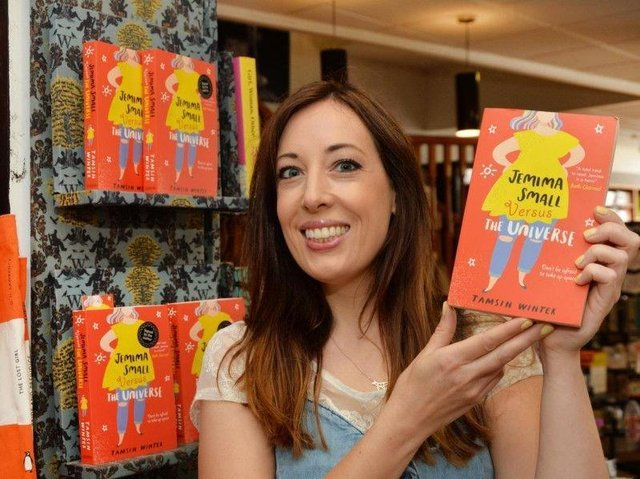 Tamsin Winter with her last book, Jemima Small Versus the Universe, which received massive acclaim last year. She will be signing her new book, Girl (in Real Life), in Market Harborough on Thursday July 8.