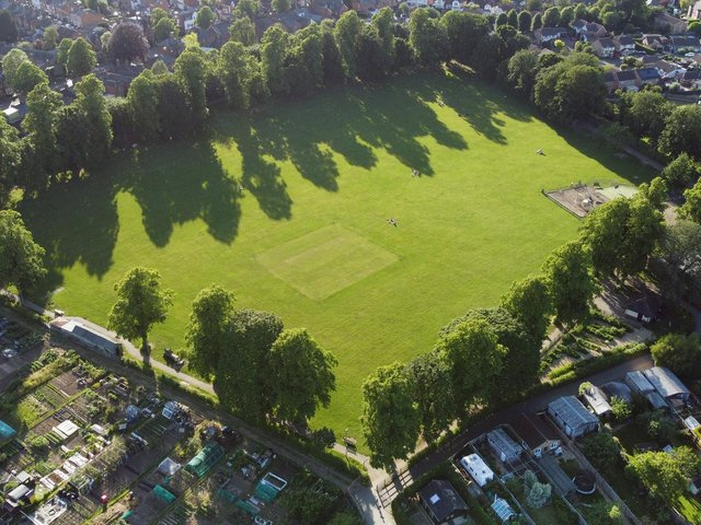 Little Bowden Recreation Ground on Northampton Road. Photo by Andrew Carpenter.