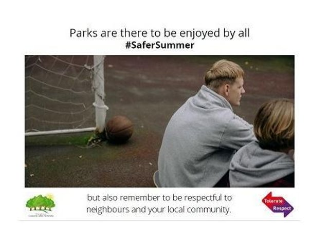 A poster from the Safer Summer campaign