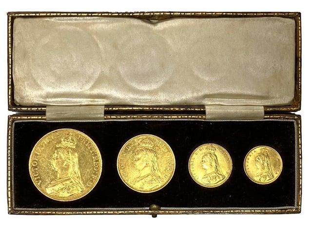 A Victorian coin set.